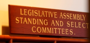 Legislative Assembly Standing and Select Committees Sign