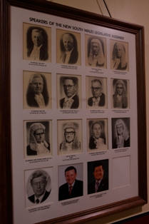 Former Speakers of the Legislative Assembly from 1927 to 2010