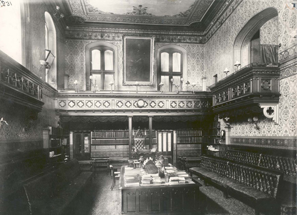 The Legislative Assembly Chamber in the 1890s