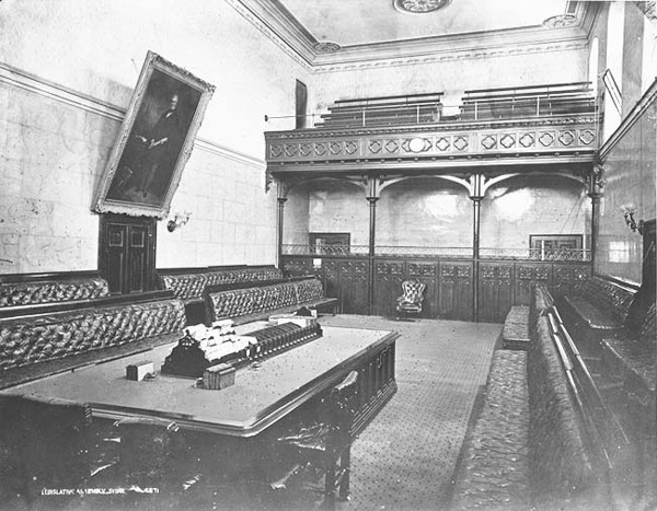 The Legislative Assembly Chamber in 1871