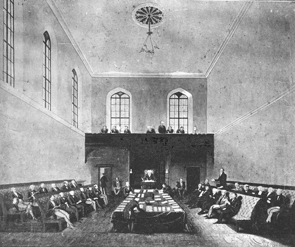 The Legislative Assembly Chamber in 1843