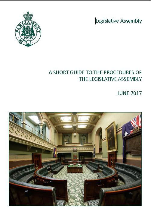 Short Guide to the Procedures of the Legislative Assembly - June 2017.jpg