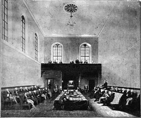 Legislative Council Chamber in 1843