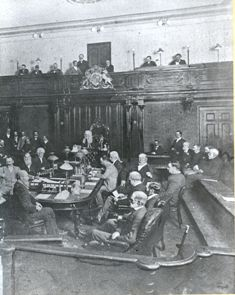 A sitting of the Legislative Council in 1895